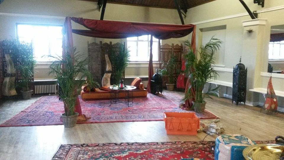 Hall hire with Moroccan theme